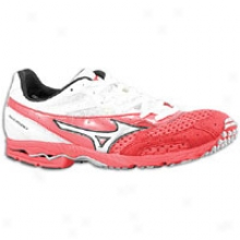 MizunoW ave Ronin 4 - Womes - Spicy Red/white/silver