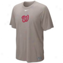 Nationals Nike Dri-fit Logo Legend T-shirt - Mens - Slate Heather