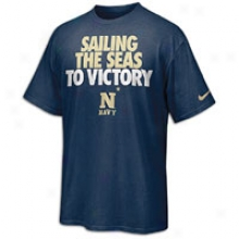 Navy Nike Rise And Roar T-shirt - Mens - Navy