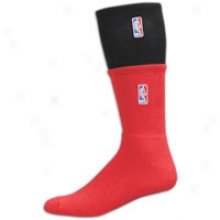 Nba League Gear For Bare Feet Double Team Sock - Mens - Black/university Red