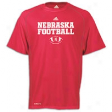 Nebraska Adidas College Climalite Practice T-shirt - Mens - University Red