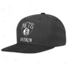 Nets Adidas Nba Official Logo Snapback - Mens - Black