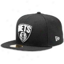 Nets New Era 59fifty Nba Primary Logo Cap - Mens - Black