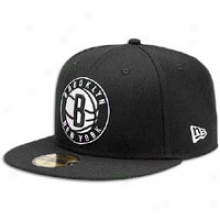 Nets New Era 59fifty Nba Scondary Logo Cap - Mens - Black