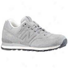New Balance 574 Lux Suede - Mens - Grey