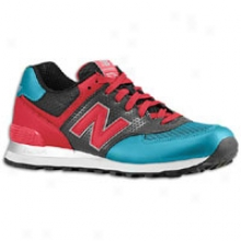 New Balance 574 Reflective Pack - Mens - Red/peacock Blue