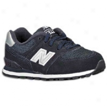 New Balance 574 Suede - Big Kids - Navy/silver