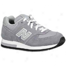 New Balance 574 Suede - Little Kids - Grey/silver