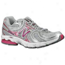 New Balance 860 Walking - Womens - Sulver/pink