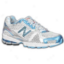 New Balance 880 - Womens - White/blue Coral