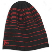 Novel Era Multibar Knit Beanie - Mens - Bkack/scarlet