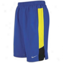 "Nike 11"" Stretch Phenom Woven Short - Mens - Old Royal/electrolime/black/reflectjve Silver"