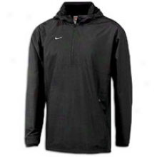 Nike 1/4 Zip Hoodiw Jacket - Mens - Black/white
