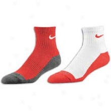 Nike 2pk Elite Essentials Bb Hi-qtrr Sock - Mens - Varsity Red/white