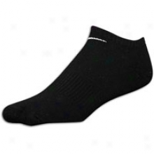 Nike 3 Pack Moisture Management No Show Sock - Blacck/white