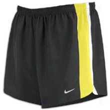 "Nike 4"" Racing Short - Mens - Black/sonic Yellow/white/refflective Silver"