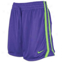"Nike 5"" Field Mesh Short - Womens - Pure Purple/electric Green"
