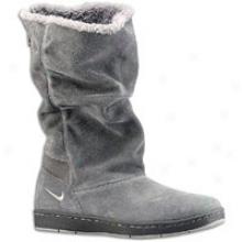 Nike Acg Sneaker Hoodie - Womens - Midnight Fog/light Charcoal