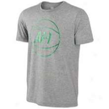 Nike Af1 Ball Crew S/s T-shirt - Mens - Grey Heather/lush Green