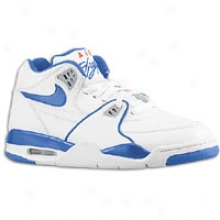 Nike Air Flight 89 - Mens - White/wolf Grey/varsity Red/dark Royal Blue