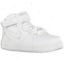 Nike Air Force 1 Mid - Toddlers - White/white