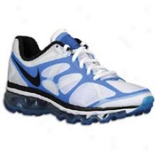 Nike Air Max 2012 - Big Kies - White/blue Spark/black