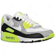 Nike Air Max 90 - Mens - Black/medium Grey/volt/white