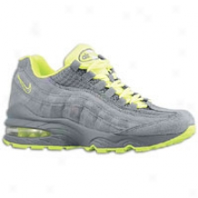 Nike Air Max 95 - Big Kids - Cool Grey/cool Grey/volt
