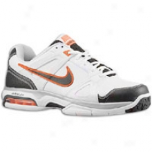 Nike Air Max Global Court - Mens - White/total Orange/metallic Silver/anthraxite