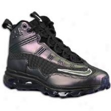 Nike Air Max Jr - Big Kids - Black/black/imperial Purple/metallic Silver