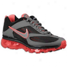 Nike Air Max Ultra - Womens - Dark Grey/black/metallic Silver/solar Red