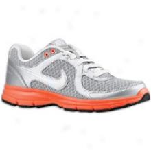 Nike Air Reentless - Womens - Metallic Silver/bright Mango/white