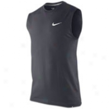 Nike Ath Dept Swoosh Sleeveless T-shirt - Mens - Dark Obsidian
