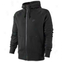 Nike Aw77 Dwr Full Zip Hoodie - Mens - Black/anthracite