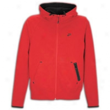 Nike Aw77 Hybrid Fleece Full-zip Hoodie - Msns - Sport Red