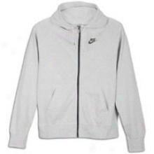 Nike Aw77 Pre-game Full Zip Hoodie - Mens - Birch Heather/spark