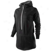 Nike Aw77 Team Mid-season Half Zip Hoodie - Womens - Black/anthracite/anthracite