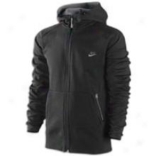 Nike Aw77 Tech Fleece Full Zip Hoodie - Mens - Black/anthracite