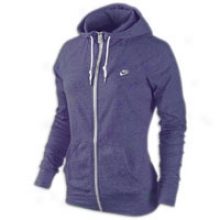 Nike Aw77 Time Out Full Zip Hoodie - Womens - New Orchid Heather