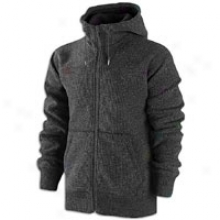 Nike Aw77 Wool Ascent Hoodie - Mens - Negro Heather/black/anthracite