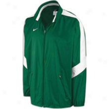 Nike Backfield Woven Full Zip Jacket - Mens - Dark Green/white/white