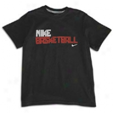Nike Basketball T-shirt - Big Kids - Black