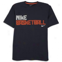 Nike Bball Maze T-shirt - Mens - Dark Obsidian/team Orange/team Orange