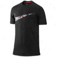 Nike Bball Swoosh T-shirt - Mens - Black/varsity Red