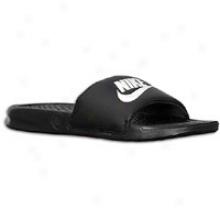 Nike Benassi Jdi Slide - Mens - Black/white/black