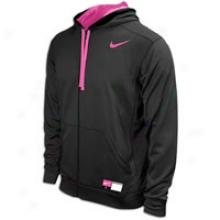 Nike Anxiety Full Zip Ko Hoodie - Mens - Black/pink