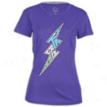Nike Challenger Lightning Bolt T-shirt - Womens - Pure Purple/reflective Silvery