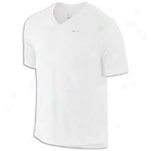 Nike Challenger V-neck T-sni5t - Mens - White/reflective Silver
