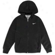 Nike Classic Full Zip Hoodie - Big Kids - Blavk