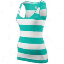 Nike Greek  Rib Tank Stripe - Womens - New Green